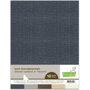Neutrals Shimmer - Cartoncini Lawn Fawn