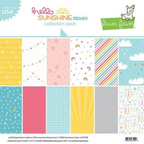 Hello Sunshine Remix Collection Pack - Blocco di carte Lawn Fawn 30x30 cm