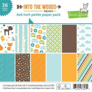 Into the Woods Remix Petite Pack - Blocco di carte Lawn Fawn 15x15 cm