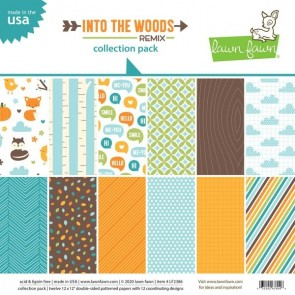 Into the Woods Remix Collection Pack - Blocco di carte Lawn Fawn 30x30 cm