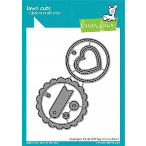 Scallped Circle Gift Tag - Fustella Lawn Fawn