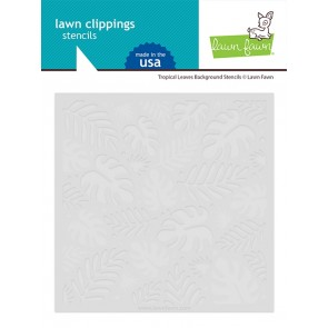 Tropical Leaves Background - Lawn Fawn Stencil