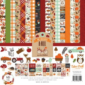 My Favorite Fall Collection Kit - Blocco di carte Echo Park 30x30 cm