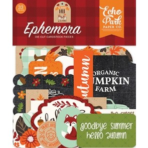 My Favorite Fall Ephemera Die Cuts - Echo Park