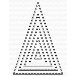 Stitched Tall Triangle Stax - Fustella My Favorite Things
