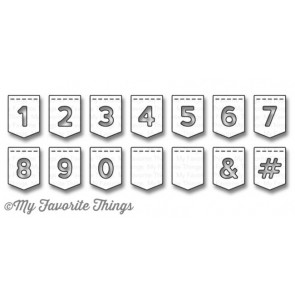 Stitched Banner Numbers - Fustella My Favorite Things