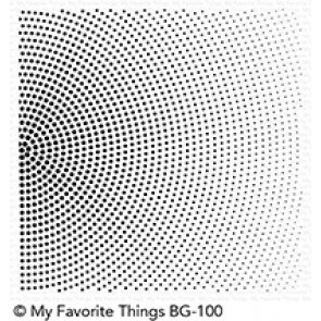 Radiating Halftone Background - Timbro My Favorite Things