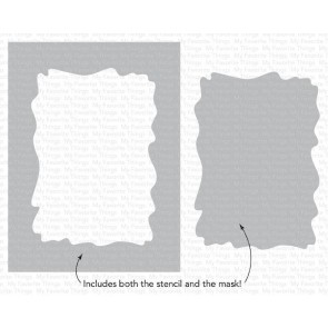 Watercolor Wash Rectangle - My Favorite Things Stencil
