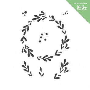 Mistletoe Wreath - Moda Scrap Stencil