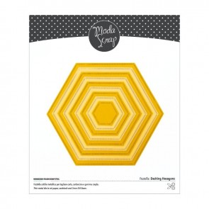 Dashing Hexagons - Fustella Moda Scrap