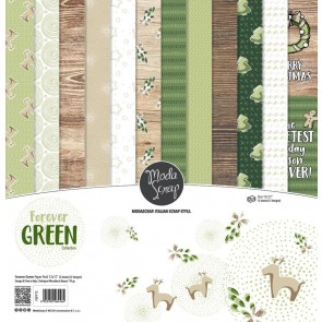 Forever Green - Blocco di carte Moda Scrap 30x30 cm