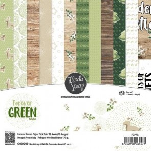Forever Green - Blocco di carte Moda Scrap 15x15 cm