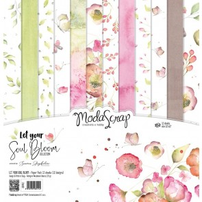 Let Your Soul Bloom - Blocco di carte Moda Scrap 30x30 cm