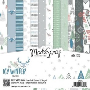 The Icy Winter Season - Blocco di carte Moda Scrap 15x15 cm