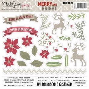 Stickers Merry and Bright - Moda Scrap