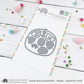 Piggie Favor Bag Accessory - Fustella Mama Elephant