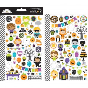 Pumpkin Party Mini Icons Stickers - Doodlebug