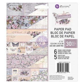 Lavender - Blocco di carte Prima Marketing 15x15 cm