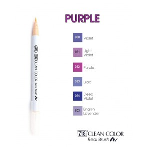 Purple - Pennarelli Zig Clean Color Real Brush