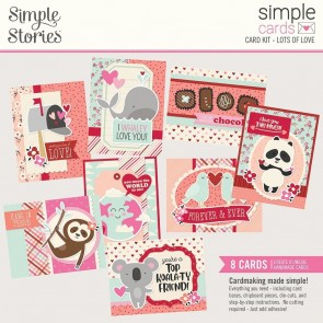 Lots of Love by Simple Stories - Kit Crea le tue Cards!