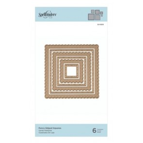 Fancy Edged Squares - Fustella Spellbinders