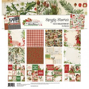 Simple Vintage Christmas - Collection Kit di Simple Stories 30x30 cm