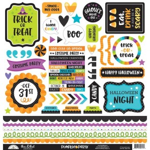 Pumpkin Party This & That Stickers - Doodlebug
