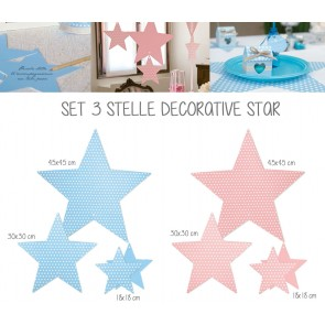 Set 3 Stelle Decorative Star
