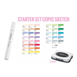 Copic Sketch Starter Set per Stamping -  39+1 pennarelli