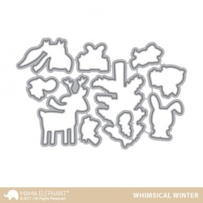 Whimsical Winter - Fustella Mama Elephant