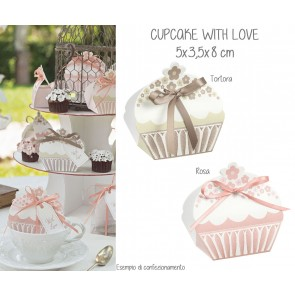 Scatolina Cupcake With Love (20 pezzi)
