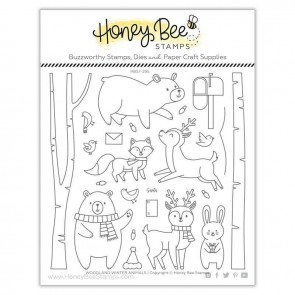 Woodland Winter Animals - Timbro Honey Bee