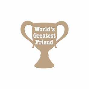 Worlds Greatest Friend Hot Foil Plate - Spellbinders