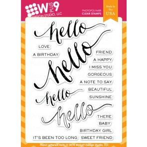 Hand Lettered Hello - Timbro WPlus9