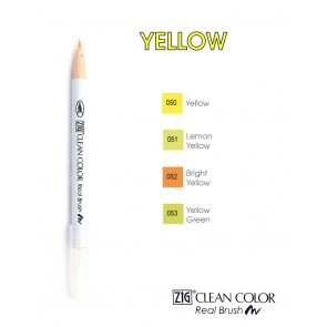 Yellow - Pennarelli Zig Clean Color Real Brush