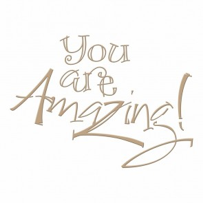 You are Amazing Hot Foil Plate - Spellbinders
